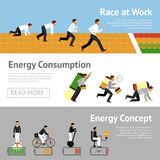 Homme d'affaires Energy Banner Set illustration libre de droits