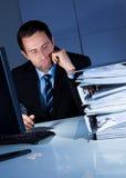 Homme d'affaires ennuyé Photographie stock