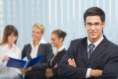 Homme d'affaires et équipe d'affaires Images stock