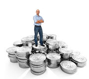 Homme d'affaires et argent Images stock