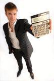 Homme d'affaires et calculatrice Images libres de droits