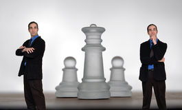 Homme d'affaires et chess-8 Photos stock