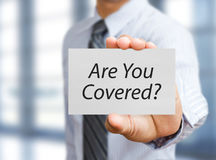 Homme d'affaires et concept d'assurance Image libre de droits