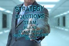 Homme d'affaires et concepts de stratégie Image stock