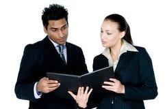 Homme d'affaires et femme image stock