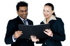 Homme d'affaires et femme image libre de droits