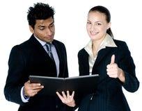 Homme d'affaires et femme photo stock
