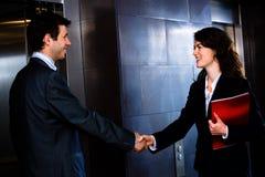 Homme d'affaires et femme d'affaires Photo stock