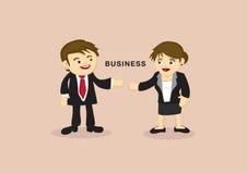 Homme d'affaires et femme d'affaires Cartoon Vector Illustration Images libres de droits