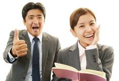 Homme d'affaires et femme d'affaires de sourire Image libre de droits