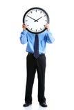Homme d'affaires et horloge Images libres de droits