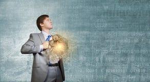 Homme d'affaires et idée images libres de droits