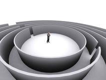 Homme d'affaires et labyrinthe Photographie stock libre de droits