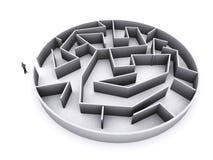 Homme d'affaires et labyrinthe Photo stock