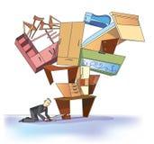 Homme d'affaires et meubles Images libres de droits