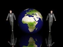 Homme d'affaires et monde illustration de vecteur