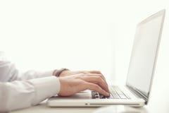 Homme d'affaires et ordinateur Photos libres de droits