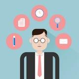 Homme d'affaires et outils Image stock