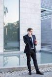 Homme d'affaires et pause-café images libres de droits