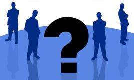 Homme d'affaires et question-3 Images stock