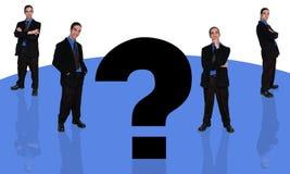 Homme d'affaires et question-4 illustration de vecteur