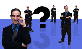 Homme d'affaires et question-7 Photo stock
