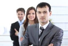Homme d'affaires et son équipe d'affaires Photo libre de droits