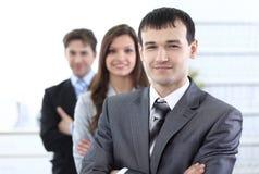 Homme d'affaires et son équipe d'affaires Image libre de droits