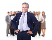Homme d'affaires et son équipe Image stock