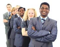 Homme d'affaires et son équipe Photo stock