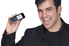 Homme d'affaires et téléphone portable photographie stock libre de droits