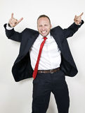 Homme d'affaires Excited Photo stock