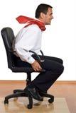 Homme d'affaires expédiant Image libre de droits