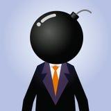 Homme d'affaires With Explosive As sa tête illustration libre de droits