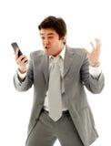 Homme d'affaires fâché Photo libre de droits