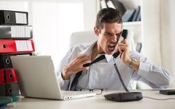 Homme d'affaires fâché Photographie stock libre de droits