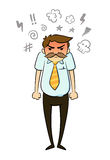 Homme d'affaires fâché illustration libre de droits