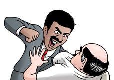 Homme d'affaires fâché de nègre illustration stock