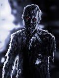 Homme d'affaires fâché de zombi Illustration sur le thème de l'apocalypse Photo libre de droits