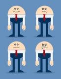 Homme d'affaires Facial Expressions Image libre de droits
