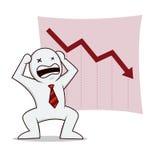 Homme d'affaires faillite illustration stock