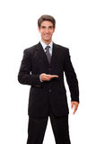 Homme d'affaires faisant la présentation Images stock