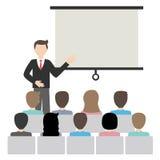 Homme d'affaires faisant le vecteur de présentation Image stock