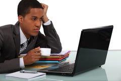 Homme d'affaires faisant une pause Image stock