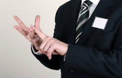 Homme d'affaires faisant une remarque Images stock