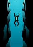Homme d'affaires Falling Into Pit illustration libre de droits
