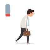 Homme d'affaires fatigué triste illustration stock