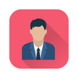 Homme d'affaires Flat Icon Photo stock