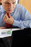 Homme d'affaires frustrant Image libre de droits