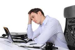 Homme d'affaires frustrant photo stock